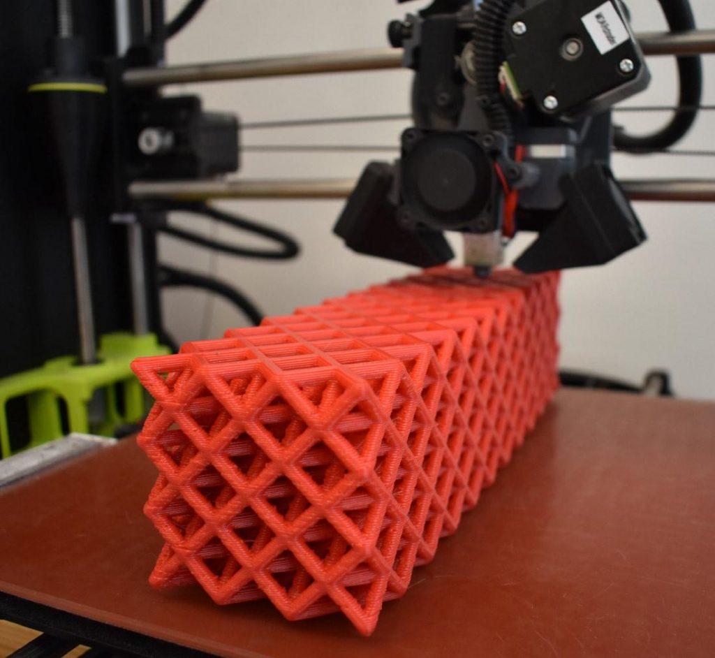 Una malla de polímeros impresa en 3D