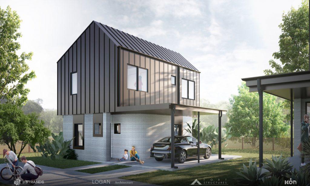 casas en 3D en Estados Unidos