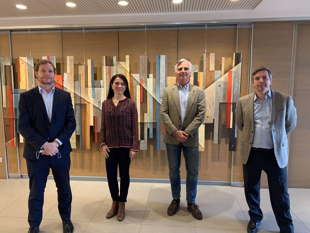 Comité ejecutivo del directorio Acades (Arturo Errázuriz, Diana Ewing, Carlos Foxley y Francisco de la Barra)