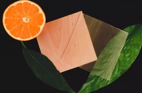 Usan cáscara de naranja para que la madera transparente sea más sostenible