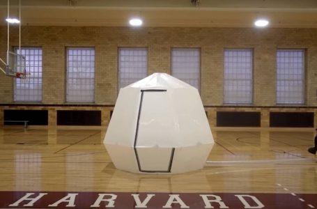 Crean refugios inflables inspirados en el origami